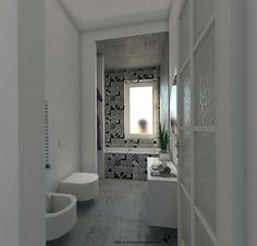 Bagno: Ristrutturazione, Abitazione privata.  Studio Architettura Alessandra Caria.