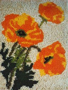 113 best latch hook rugs images on pinterest embroidery latch caron latch hook kit poppies orange poppy flowers 20 x 27 ebay mightylinksfo
