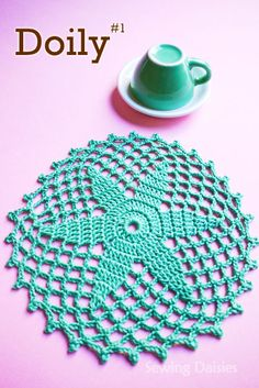 Doily & Mat Series: Doily #1  pattern available on Sewing Daisies