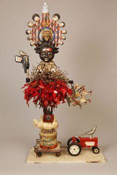Vanessa German - 32 Artworks, Bio & Shows on Artsy Found Object Art, Found Art, Textile Sculpture, Sculpture Art, Art Brut, Assemblage Art, Naive Art, Outsider Art, Texture Art