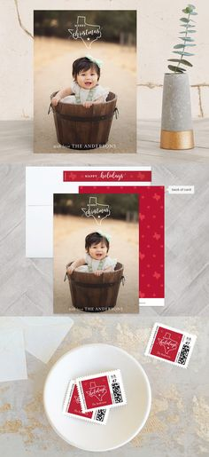 Send out this year's holiday greetings with style. Your special photo will look great in these unique and modern holiday photo cards created for you. Texas Love by My Splendid Summer