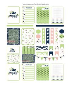 Kiss cut on matte non removable sticker sheet. Available in Happy Planner Classic or Erin Condren Vertical.