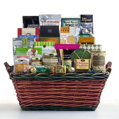 Goodies Galore There's enough great stuff in this basket to feed a small army - cookies, chocolate, cheese, crackers, nuts, trail mix and more - lots more. $154.99