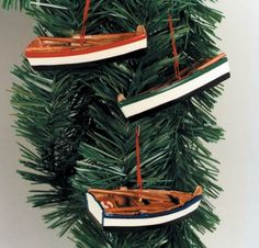 Life Ring Christmas Ornament with Hanging Embellishment Sailboat