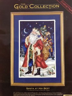 dimensions gold collection santa at his best counted cross stitch christmas nip dimensions frame