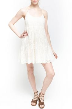 Davis Dress from Walter Baker. 100% Cotton, Lining: 100% Polyester Adjustable Straps Off White $198
