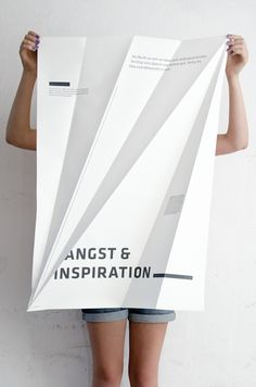 Love this stuff #folding #poster #design Night by Sieglinde Fischer