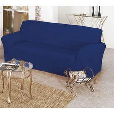 Comprar Capa de Sofá lisa Avulsa Bell Para 03 Lugares - Tecido Malha Gel - Azul com entrega rápida e segura. Conheça a nossa loja.