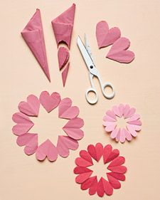 Heart-shaped Doilies @ Martha Stewart.com