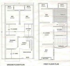 21 Ideas House Design Plans Pakistan For 2019 Town House Plans, Duplex House Plans, House Layout Plans, Duplex House Design, Dream House Plans, House Layouts, House Floor Plans, Home Map Design, Home Design Plans