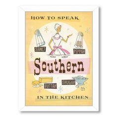 East Urban Home Southern Kitchen Framed Vintage Advertisement
