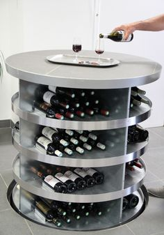 Pop up wine cellar - Now offered in North America by Genuwine Cellars! | This original concept combines the advantages of the traditional wine cellar with the space saving design and aesthetics of the modern home. | It's the cellar that comes to you! https://www.youtube.com/watch?v=dFH8tholW9g #winecellar