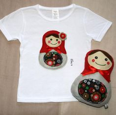 Matrioska achuchable y camiseta a juego