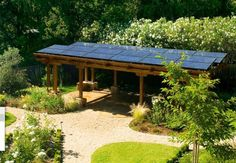 Solar Trellis... ideas of where to put solar panels ALTERNATIVE ENERGY REPORT IS WAITING FOR YOU... #homeimprovementhub,