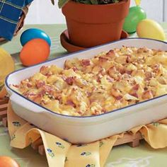 Ham and Potato Casserole Recipe - perfect for leftover ham! Would also be filling for a brunch.
