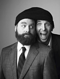 Zack Galifianakis and Bradley Cooper.just Bradley Cooper Beautiful Men, Beautiful People, Zach Galifianakis, Movies And Series, Cinema, Hollywood, Raining Men, Bradley Cooper, Shows