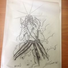 Exu Fantasy Illustration, Tattoo Sketches, Afro, Concept Art, Body Art, Basic Drawing, Deities, Goddesses, Tattoo Inspiration