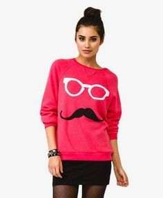 French Terry Mustache Pullover | FOREVER 21 - 2024648686
