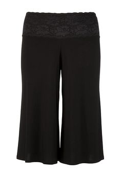 Lace Waist ITY Gaucho Bottoms available at #Maurices