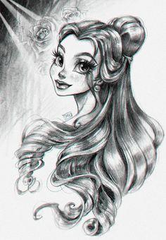 Disney drawings, cute drawings, beautiful drawings, princess drawings, be. Disney Princess Drawings, Disney Princess Art, Disney Fan Art, Disney Drawings, Disney Belle, Cartoon Drawings Of Animals, Cartoon Girl Drawing, Cute Drawings Of People, Cartoon Girls