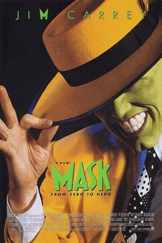 The Mask, (1994) - This is still a very funny, very cute movie about a timid desk man who finds a wooden mask belonging to the Norse god/giant, Loki.  It turns him into a living cartoon, and boosts his self-confidence.