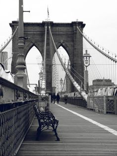 The Brooklyn Bridge on one of its rare crowd-less days.