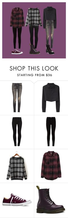 """""""Sans titre #686"""" by nadapierce ❤ liked on Polyvore featuring moda, R13, Proenza Schouler, J Brand, 7 For All Mankind, H&M, Converse, Dr. Martens, Madden Girl i women's clothing"""