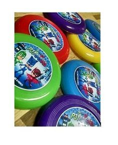 Amazon.com: 12 PJ MASKS mini frisbees birthday party favors, treat bag loot, prize goodie: Toys & Games