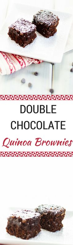 double chocolate quinoa brownies double chocolate quinoa brownies ...