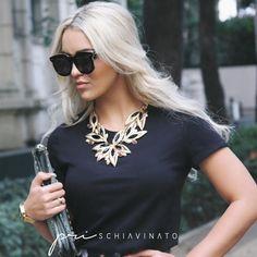 A blogueirda Rafaella Kalimann usa Máxi Colar exclusivo Pri Schiaivinato.  #maxicolar #maxi #colar #blogueira #priacessorios #prischiavinato #Rafaellakalimann   www.priacessorio.com.br