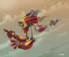 Flying Robot by Kravenous.deviantart.com on @deviantART