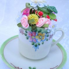Pincushion Teacup ~ Make a Vintage Keepsake Gift!