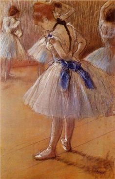 The Dance Studio - Edgar Degas ( I had to draw this picture once for a class I think I was a sophomore in high school)