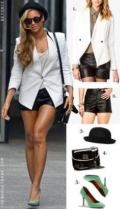 58aca33b32 love this outfit idea! via Chuah Budget Babe   Beyonces white blazer