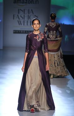 Anju Modi at Amazon India Fashion Week autumn/winter 2017