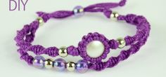 This video will show how to make a Macrame Double Bracelet with wrapped button or stone. You need to know spiral knot and how to wrap a stone. More information in the video below. Video: .