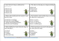 Saint Patrick's Day Task Cards - $