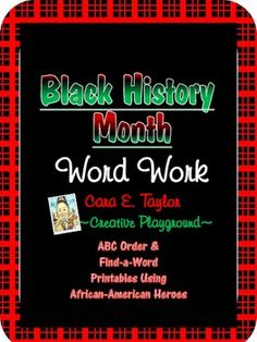 Black History Month~ Free Word Work. Pinned by SOS Inc. Resources @sostherapy http://pinterest.com/sostherapy.