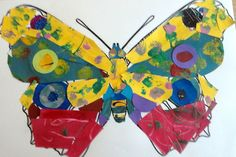 Motyl wykonany według instrukcji Erica Carle'a.