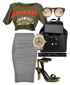 """""""Untitled #1926"""" by stylebyteajaye ❤ liked on Polyvore featuring Ally Fashion, Barneys New York, Alexander Wang and Rolex"""