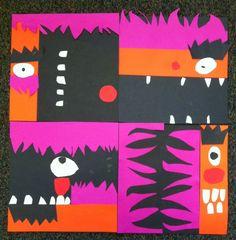 Based on Thom Pastrano's Sesame Street abstracts   Shine Bright Zamorano