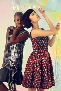 Love the redish dress - made in Africa