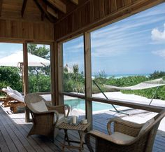 Parrot Cay, Turks and Caicos Islands. Private island, private pool, private beach. Save up for a looooong time - it's worth it.