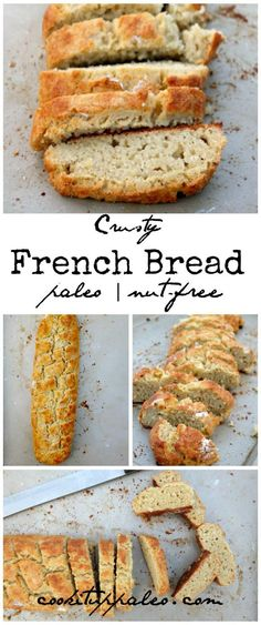 I am re-pinning this because I just tried it for the first time and IT IS SIMPLY AMAZING!!!!!! It was gone in less than 30 min. Making 2 batches tomorrow!! French Bread made with Cassava flour - YUM!!