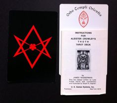 Vintage Aleister Crowley Thoth Tarot Deck 1978 by FaesBlueMoon, $93.00