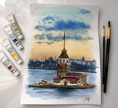 Istanbul Istanbul, Painting, Art, Painting Art, Paintings, Kunst, Paint, Draw, Art Education