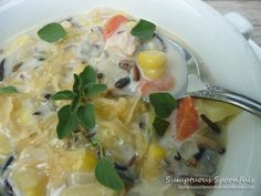 Creamy Cheesy Chicken Wild Rice Soup by Sumptuous Spoonfuls