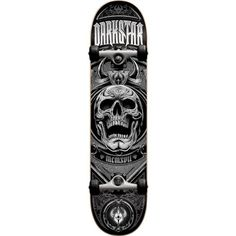 Darkstar Crest Skateboard, Silver, 7.75FU. 7 ply hard rock Maple with our exclusive stiff glue extra. 5.0 T5 aluminum Darkstar trucks with good turning radius. 92A bushings, softer bushing allowing for all weight and size skaters. ABEC 1 Carbon steel speed bearings. New and improved urethane Formula. 95A durometer wheels are perfect Hardness, suitable for both street and park skating.