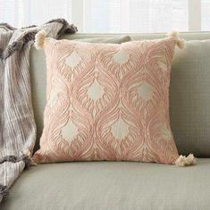Blush Throw Pillow, Blush Pillows, Sofa Pillows, Throw Pillows, Bed Blankets, Lumbar Throw Pillow, Couches, Crystal Room, Jute Fabric