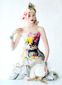 """I want this dress please...  Frida Gustavsson by Tim Walker for Vogue US January 2012 in """"Face Value"""""""